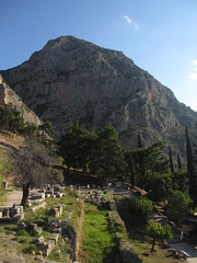 Sanctuary of Apollo and mountain beyond, Delphi, Greece (Paul McClure DC) Tags: architecture scenery delphi historic greece delfi sanctuaryofapollo phocis oct2014