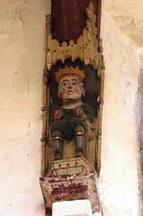 Walsoken, Norfolk, All Saints', north aisle, royal saint (groenling) Tags: wood uk greatbritain england saint king britain norfolk carving nave gb crown allsaints woodcarving corbel wisbech northaisle hammerbeam walsoken