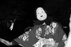 'Okame' mask dance (Yuta Ohashi LTX) Tags: bw white black monochrome japan japanese dance nikon mask traditional       d90   f3556 okame   18105mm nikond90