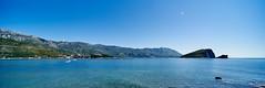 View Across Bay from Budva (Greg Webb) Tags: blue sea summer panorama sun hot landscape island bay warm sunny