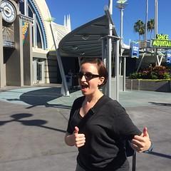 Liz survived Space Mountain!