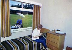 Pontins Dolphin Holiday Camp (Brixham) - Photo from 1972 brochure (trainsandstuff) Tags: dolphinholidaycamp brixham devon pontins fredpontin vintage archival chalet bedroom dolphin holidaycamp retro