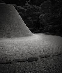 Ginkaku-ji Temple (schromann) Tags: moon japan silver temple sand kyoto fuji mt unesco gravel tempel raked ginkakuji kies ashikaga shōgun jishoji yoshimasa kogetsudai 201409japan