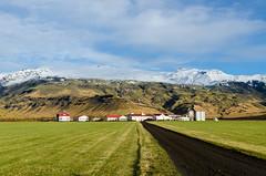 Farm at foot of Eyjafjallajkull (mktdg) Tags: snow mountains landscape volcano iceland farm eyjafjallajokull