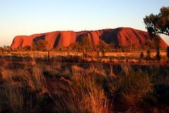 Uluru - Sunrise at Ayers Rock (Heaven`s Gate (John)) Tags: mountain rock sunrise landscape dawn australia icon uluru ayers 25faves johndalkin heavensgatejohn