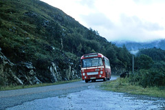 Alexander (Fife) PE150 Fort William to Kinlochleven October 1981 (return2layerroad) Tags: scotland alexander fortwilliam kinlochleven leylandleopard alexanderfife highlandomnibuses wfs150w