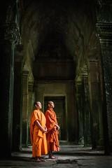 Spiritual Temple (v2) (Trent's Pics) Tags: temple hall ruins cambodia khmer buddhist monk angkorwat hallway monastery monks wisdom spiritual siemreap angkor hindu prayers