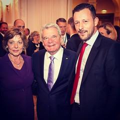 Daniela Schadt, Joachim Gauck & Louis Lang