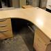 Curved office desk and pedestal