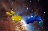 Conflict (Karf Oohlu) Tags: lego moc microscale microspacetopia startrek federationstarship birdofprey