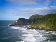 Oregon coast - film (JSB PHOTOGRAPHS) Tags: 45mm beach m645 mamiyam645 coast 120film colorfilm filmcamera film filmphotography fujifilm hecetahead hecetaheadlighthouse lighthouse mamiya ocean oregon oregoncoast sea epson v500