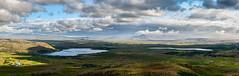 Zwei Seen (Panasonikon) Tags: island iceland panorama nikond5100 nikkor1855 panasonikon landschaft landscape seen lakes úlfarsfell wolken clouds ebene hafravatn