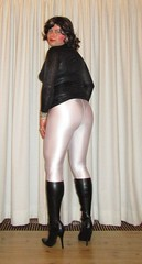 B/W outfit: animal print black top, black stiletto boots and pearl-white leggings (Barb78ara) Tags: leggings pearlwhiteleggings animalprint blackanimalprinttop tightblacktop blacktop whiteleggings stilettoheels stilettohighheels stilettoboots boots highheelboots stilettohighheelboots