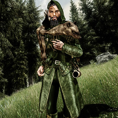 Lord of the Forest (Migan Forder) Tags: elf warrior fantasy male forest ncstore pipe bow medieval