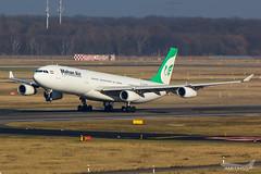 Mahan Air - A343 - EP-MMD (1) (amluhfivegolf) Tags: eddl dus düsseldorfairport flughafendüsseldorf amluh5g amluhfivegolf avgeek aviation plane