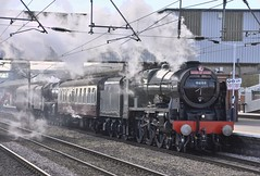 46100 & 45407 5Z60 Southall to York, Peterborough 21.03.17 (phil60007) Tags: railway royalscot wcrc lms stanier steam