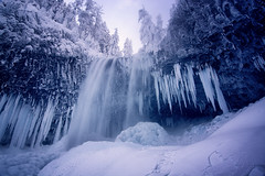Tamanawas Falls (gwendolyn.allsop) Tags: waterfall icicle frozen blue ice cold winter oregon mt hood national forest d5200