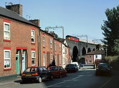 Ashridge Street, Runcorn (Kingmoor Klickr) Tags: res class477 47734 railexpresssystems runcorn cheshire rugby special viaduct footex football excursion crewe diesel depot 47583 d1767 county hertfordshire 47172