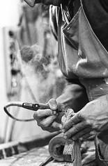 Pietro Paroletti - Woodworker (Federico Pitto) Tags: bw genova nikonfe2 nikkor50mm14 d76 trix