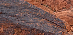 Petroglyph panel (300 B.C.E. to 1150 C.E.) on the trail to Mouse's Tank, Valley of Fire State Park, Nevada (www.clineriverphotography.com) Tags: usa petroglyphcanyon location panorama rockart petroglyph mousestank 2016 valleyoffirestatepark nevada aspect
