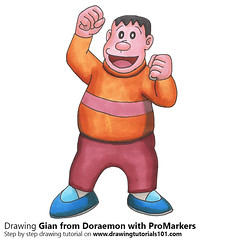 Gian from Doraemon with ProMarkers [Speed Drawing] (drawingtutorials101.com) Tags: doraemon gian anime manga cartoons japanese promarkers alcohol markers promarker coloring draw drawing drawings color sketch sketches sketching promakers marker how