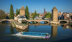 Summer in April... Strasbourg 2017 (2) (Cloudwhisperer67) Tags: amour cloudwhisperer67 medieval bridge ponts couverts cathedral cathédrale strasbourg alsace france view barrage vauban cityscape waterscape city town skyscape urban travel trip photography panorama panoramic amazing splendid april 2017 spring love lovely europe europa great canon 760d 760 flyboat boat