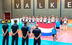 2017-04-08 EK U18 Ned - Slo (21a) (Peter Donderwinkel) Tags: ekmeisjesu18 nederland teamholland slovenië valkenhuizenarnhem papendal volleybal volleyball sportphotography teamsport indoor ek canon nevobo volleybalnl oranje