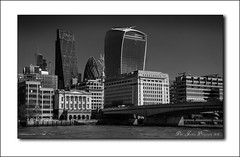The London Skyline (deltic22) Tags: london skyline riverthames skyscrapers bridge water