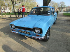 Ford Escort Mexico NEO327K (Andrew 2.8i) Tags: queen queens square bristol breakfast club classic classics car cars show meet avenue drivers all types transport youngtimer oldtimer ford escort mexico mark mk 1 mark1 mk1 british rally saloon avo blue