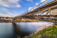 The passage of time (Stéphane NinO) Tags: ricoh photography photo long exposure filter exterieur paysage bridge cloud color france wideangle architecture nuages ciel clouds lyon hdr pentax 1530