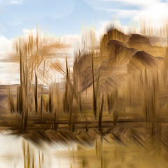 DUGOUT POND (Deborah Hughes Photography) Tags: intentionalcameramovement icm impressionism impressionistphotography photoimpressionism photographicart multipleexposures incameraeffects abstracts abstractnature abstractphotography