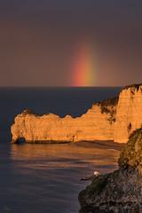 Porte d'Amont, Étretat, Normandie, France (boooHguy) Tags: paysages mer sea étretat normandie etretat falaise sunset rainbow arcenciel