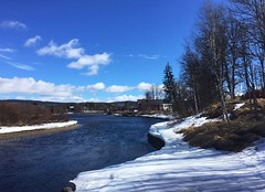 Between winter and spring in the mountains. Valdres, Norway (JRJ.) Tags: norge norway ski spring winter river sun snow landscape