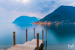 DSCF0072-1 (manuelbinettiphotography) Tags: trees sky lake sea water beach travel blue night light clouds italy tree pier green village mountain italia iseo lombardy bs pontile fishing brescia small monte isola peschiera montisola maraglio
