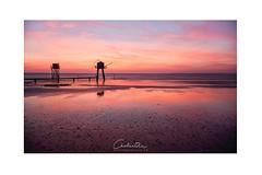 Beach texture (MagiCshoot) Tags: couleur rouge pink fishinghouse mer ocean eau water beach plage sunset sky seascape france tharon atlantique d600 longexposure texture reflet