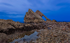 Bow Fiddle Rock.jpg (___INFINITY___) Tags: 6d aberdeenshire portknockie blue bluehour bowfiddlerock canon darrenwright dazza1040 eos infinity longexposure scotland sea seascape