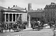 The Court is not in Session!  The Courthouse, Dundalk, Co. Louth (National Library of Ireland on The Commons) Tags: robertfrench williamlawrence lawrencecollection lawrencephotographicstudio thelawrencephotographcollection glassnegative nationallibraryofireland dundalk colouth courthouse maidofeireann statue cathedral gazunders market bedframes chamberpots countylouth 1798memorial herbertbarnes monument antilaria williamshotel