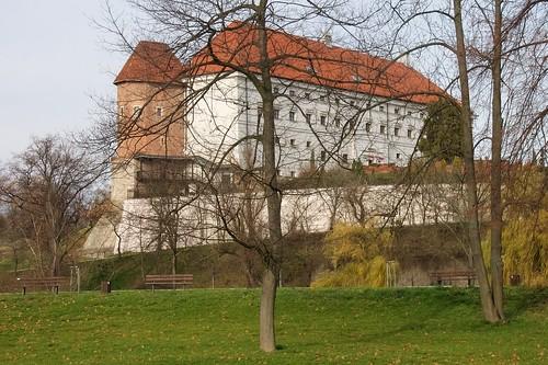 Zamek w Sandomierzu z Bulwaru Marszałka Piłsudskiego