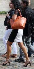 180 (SadCire) Tags: woman frau femme mujer girl calves legs miniskirt minidress skirt heels street candid sexy