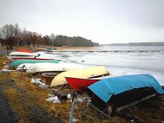Huawei P10 (jokamiesfi) Tags: huawei p10 mobile phone järvi lake ranta shore boats