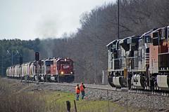 280 passes through the Portage West control point (AndyWS formerly_WisconsinSkies) Tags: train railroad railway railfan canadianpacificrailway canadianpacific cprail cp emd sd60 emdsd60 crex ge es44ac locomotive