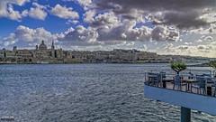 View to Valletta (Zisimos Zizos Photography) Tags: cloudscape seascape malta valletta dramatic