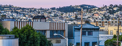 1860 rooftops (pbo31) Tags: sanfrancisco california nikon d810 color 2017 april spring boury pbo31 somisspo missiondistrict rooftops patrick sunrise morning harrisonstreet city urban over view skyline panoramic large panorama stitched pink 1860 siemer 16th