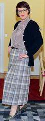 Birgit023903 (Birgit Bach) Tags: pleatedskirt faltenrock bowblouse schleifenbluse cardigan strickjacke