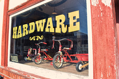 Days gone by... (slammerking) Tags: hardware trike tricycle radioflyer window display yoderkansas nostalgic