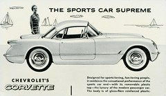 Chevrolet Corvette (SwellMap) Tags: postcard vintage retro pc chrome 50s 60s sixties fifties roadside midcentury populuxe atomicage nostalgia americana advertising coldwar suburbia consumer babyboomer kitsch spaceage design style googie architecture car auto automobile sedan driving ad advert advertisement