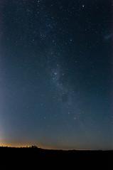 Rock Star (explored) (lionpool) Tags: night sky milkyway australia bluemountains sydney nikon d90 landscapes