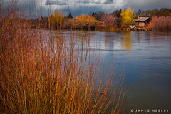 Keefer's Cabin (James Neeley) Tags: idaho idahofalls keefersisland cabin landscape snakeriver jamesneeley