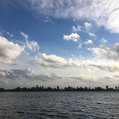 (michel banabila) Tags: water kralingseplas rotterdam city horizon sky clouds