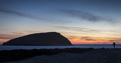 Dawn (MarkWaidson) Tags: sunrise sea puffin island beach anglesey wales stones photographer windfarm